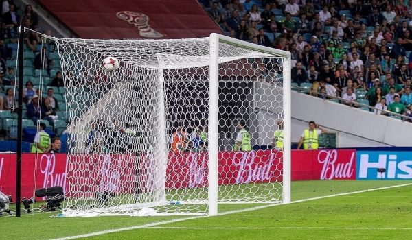What is the standard soccer goalpost dimension?